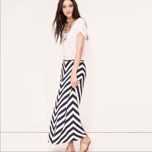 LOFT Chevron Stripe Maxi Skirt